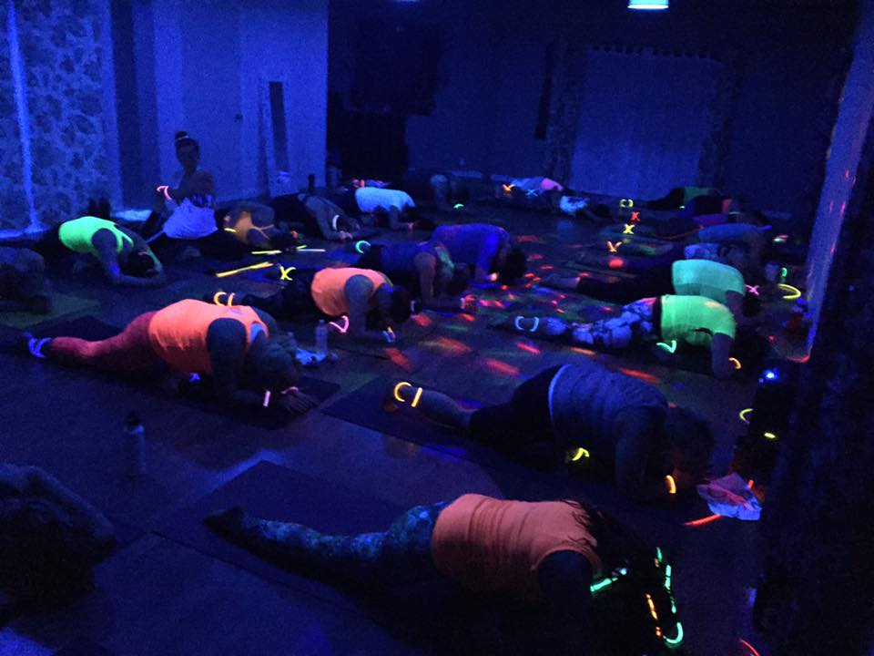 Flow Blacklight Yoga Party