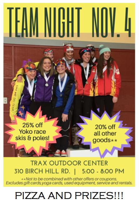 Team Night at Trax Outdoor Center November 4, 2016