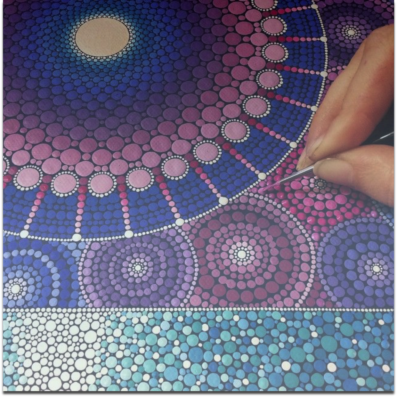 Trax Yoga Chakra and Rock mandala painting workshop