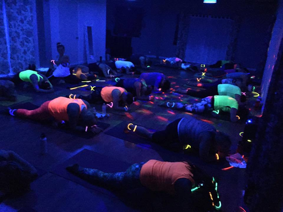 Flow & Glow - Blacklight Halloween Yoga Party! - Trax ...