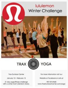 Lululemon 21-Day Yoga Winter Challenge @ Trax Outdoor Center | Fairbanks | Alaska | United States