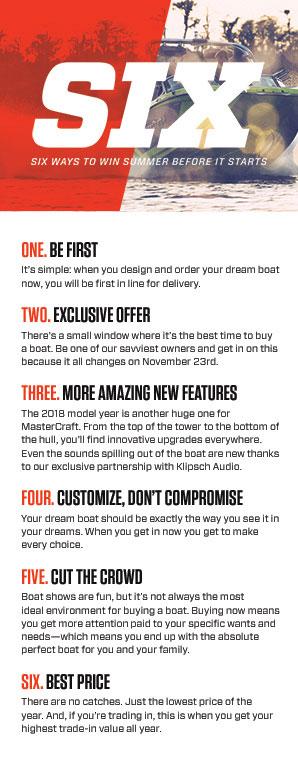 6 reason to buy mastercraft