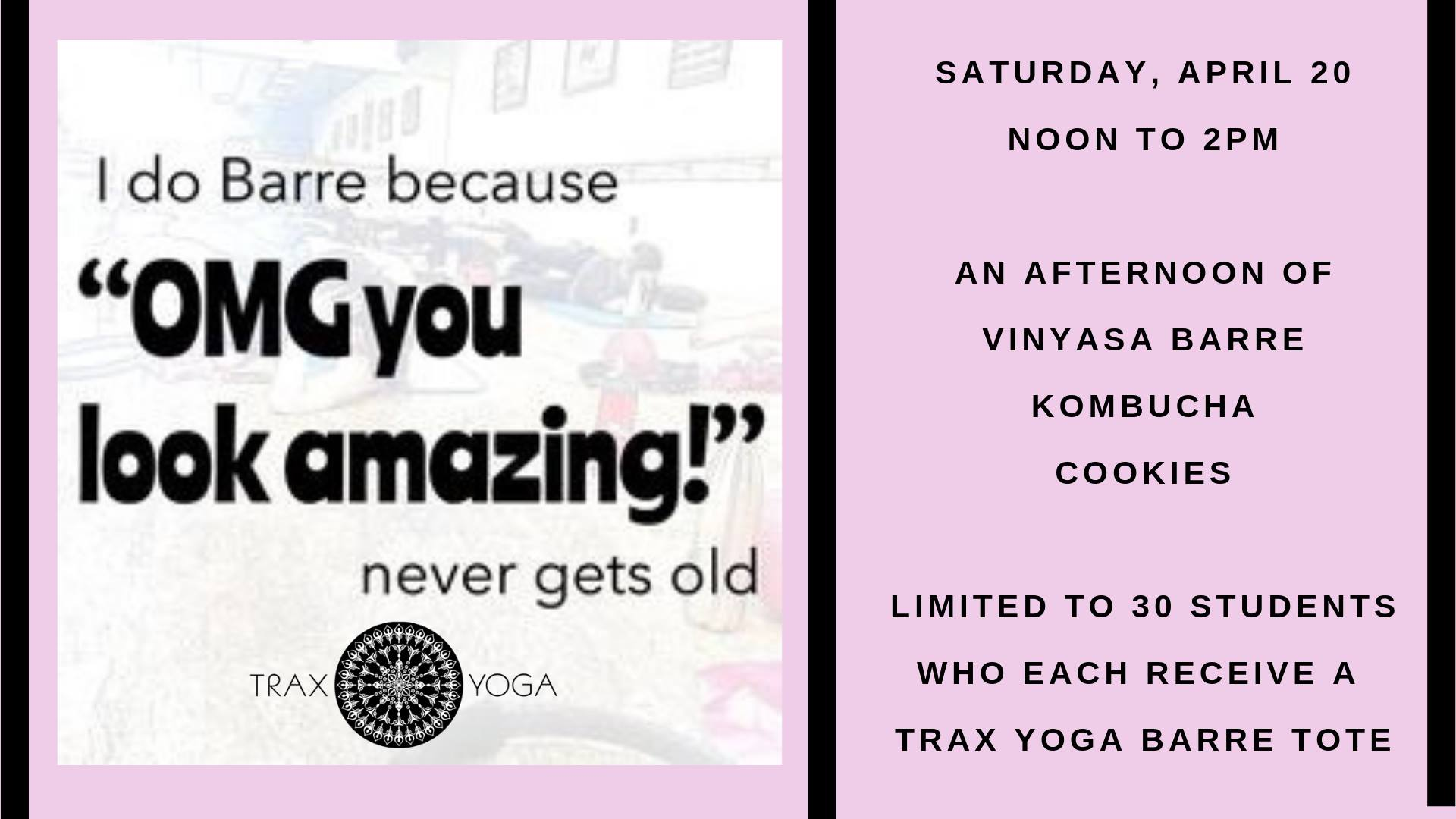 Vinyasa Barre Party @ Trax Yoga | Fairbanks | Alaska | United States